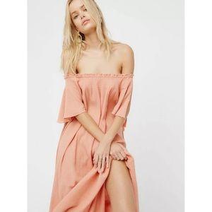 FREE PEOPLE Natasha endless summer pink maxi dress